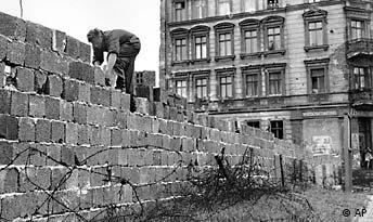 Building of the Berlin Wall in 1961