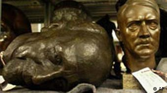 A Hitler bust on a shelf in the German Historical Museum's depository Photo: AP