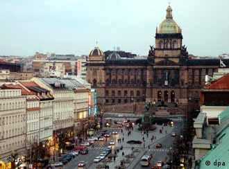 View of Wenceslas Square in Prague