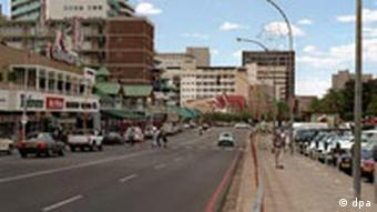 Independence Avenue in Windhoek in Namibia