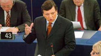 Jose Manuel Barroso stellt sein Team vor
