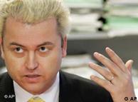 Right-wing parliament member Geert Wilders
