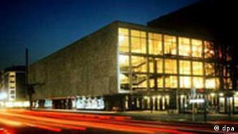 The Deutsche Oper in Berlin at night