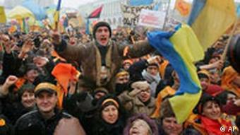 Wahlen in der Ukraine Viktor Janukowitsch Anhänger