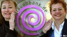 Frauenbank Astrid Hastreiter und Angelika Huber