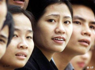 Porträt junger Vietnamesen in Hanoi Foto: Archiv