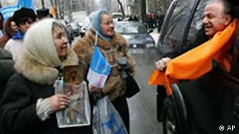 Ukraine Viktor Juschtschenko Anhänger und Gegner