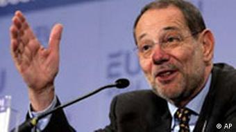 EU Javier Solana EU erwartet neuen Schwung im Nahost-Friedensprozess