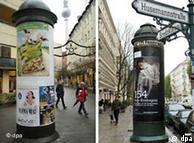 Colunas de publicidade em Berlim