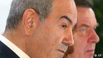 Ajad Allawi (li.) und der damalige Bundeskanzler Gerhard Schröder (Foto: AP)