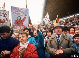 Антикремлевская демонстрация в Вильнюсе