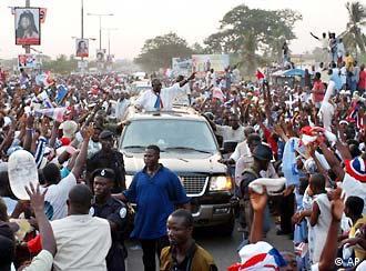 John Kufuor beim Wahlkampf in Ghana