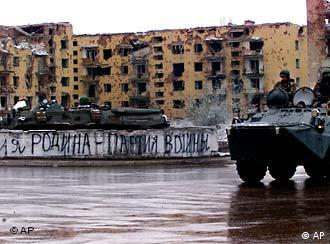 Russische Truppen in Grosny, 23. Nov. 2004 (Quelle: AP)