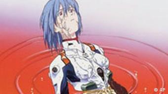In this illustration distributed in Tokyo Tuesday, Dec. 7, 2004 by A.D. Vision Inc., a Houston, Texas-based distributor of Japanese manga comics and animation, known as anime, one of main characters of Neon Genesis Evangelion Rei Ayanami is shown. Dozens of anime are being offered at American video-rental shops, where whole shelves are taken up by titles like Ghost in the Shell, Ninja Resurrection, Neon Genesis Evangelion and Bubblegum Crisis Tokyo 2040. Neon Genesis Evangelion is presented by author GAINAX and illustrator Yoshiyuki Sadamoto. (AP Photo/A.D. Vision Inc., HO) **CREDIT MANDATORY, NO SALES**