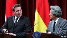 Gerhard Schröder in Japan bei Koizumi