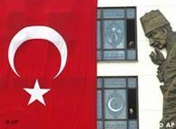 Турецкий флаг и основатель турецкого государства Мустафа Кемал Ататюрк