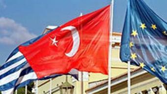 Galerie Türkei Flagge Griechenland und EU