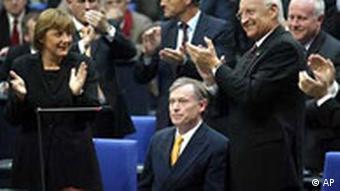 همایش اتحادیه، صحنهی پس از انتخاب هرست کولر بهعنوان رئیسجمهور آلمان فدرال