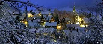 Weihnachtensdorf Seiffen im Erzgebirge