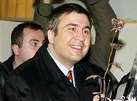 Тбилиси, 4 января 2004 года. 36-летний Саакашвили - лидер грузинской оппозиции