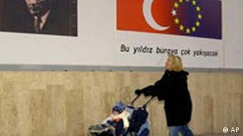 EU Türkei Plakat in Ankara