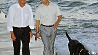 Gerhard Schröder und Wladirmir Putin in Sochi