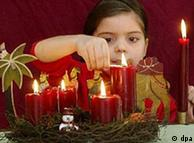 The advent wreath, with its four candles symbolizing the four Sundays of advent, is an ancient German custom