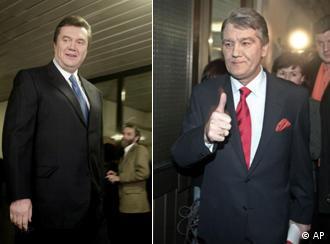 Јушченко и Јанукович пред ТВ-дуелот
