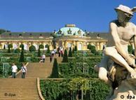 Palácio Sanssouci, em Potsdam, residência de verão do imperador Frederico 2° da Prússia