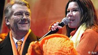 Wahlkundgebung mit Juschtschenko und Ruslana
