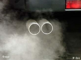 Car exhaust emitting fumes