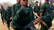 Boy soldiers from Ugandan supported Congolese rebel movement, Bunia, Congo, photo