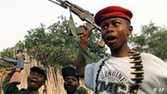 Boy soldiers from Uganda supported Congolese rebel movement, Bunia, Congo, photo