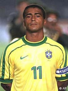 Romario in Nationaltrikot (Quelle: AP)