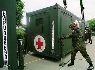 German mobile medical centers can now be sent to the US