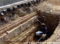 Από τις ανασκαφές στους τάφους γύρω από την Chlodwigplatz