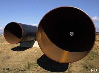 Erdgas-Pipeline durch die Wüste (Foto: AP)