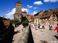 Torre da capela do  Kaiserburg em Nurembergue