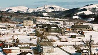 Kurilen Ortschaft Krabosawodskje auf Shikotan