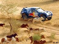 La alemana, en pleno desierto africano.