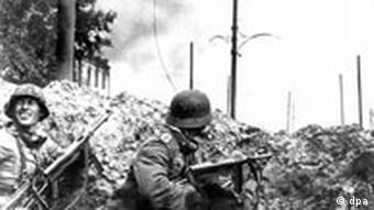 Soldados alemanes en Stalingrado.