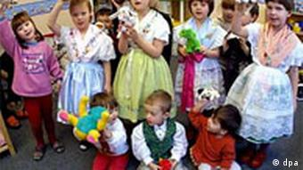 Pre-schoolers at a Sorbian pre-school in Cottbus