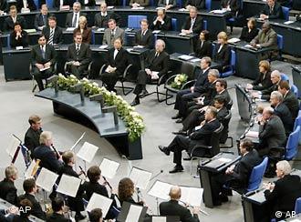 Траурная церемония в бундестаге