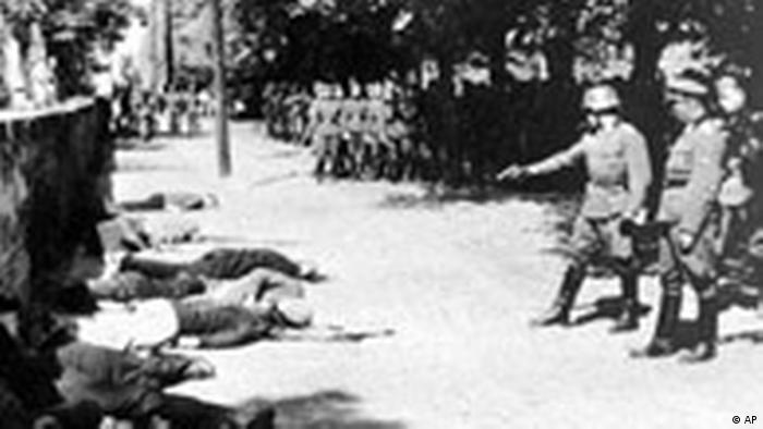 Pančevo, 22. april 1941, streljanje talaca