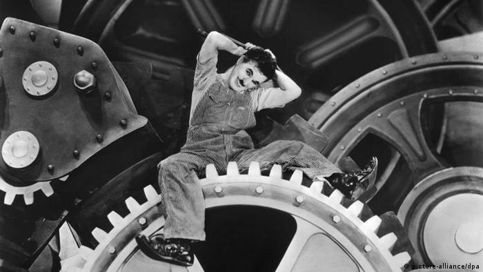 The heyday of industrial capitalism? Charlie Chaplin in a still from his 1936 movie Modern Times.