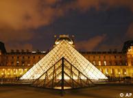پیرس کا Louvre میوزیم جہاں مونا لیزا کی شہرہ آفاق پینٹنگ نمائش کے لیے رکھی ہے