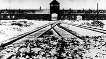 Aussenansicht des Konzentrationslagers Auschwitz, 60 Jahre Gedenktag
