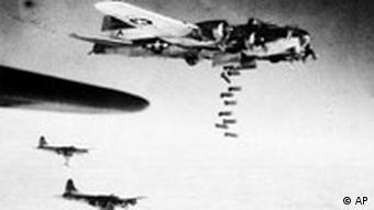 Западные союзники осуществляли массированные бомбардировки немецких городов