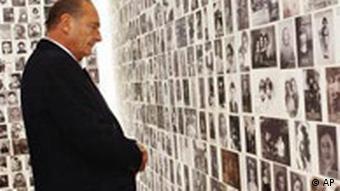 Chirac eröffnet Europas größtes Holocaust Museum in Paris