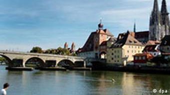 Regensburg Altstadt mit Dom Sankt Peter